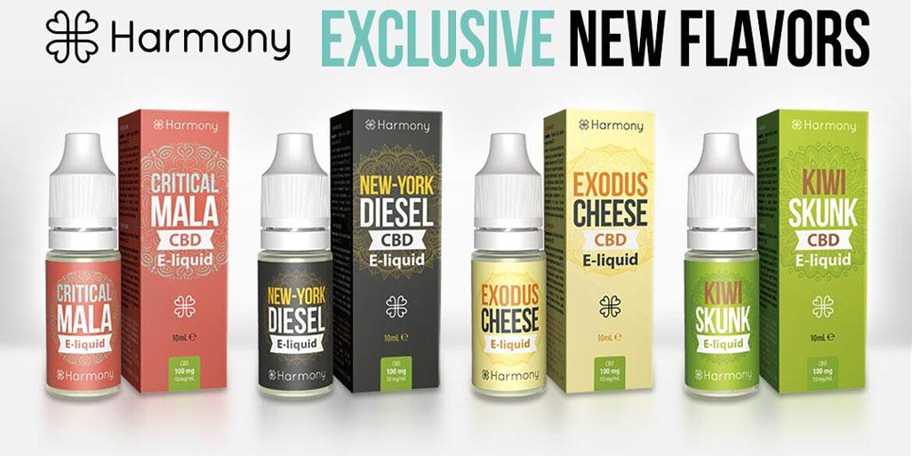 Harmony E-Liquids neue Sorten